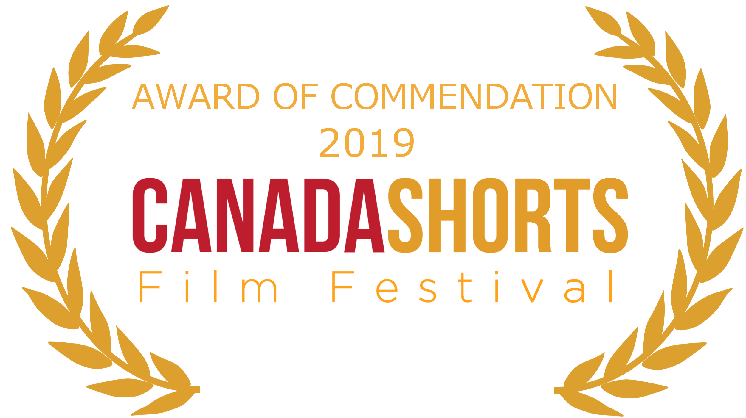Canada shorts AWARD OF COMMENDATION laurel - gold